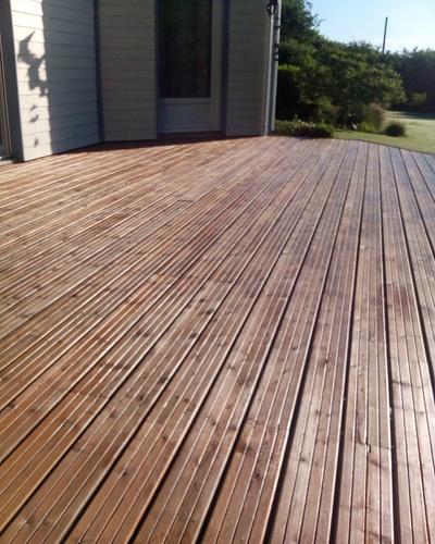 Nettoyage terrasse bois